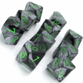 Black & Grey Gemini D10 Ten Sided Dice Set